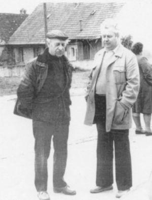 Pánové Dráb a Řezníček, dva ze zakladatelů klubu.
